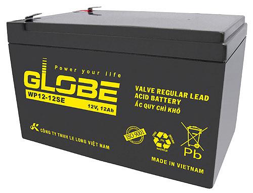 Bình ắc quy kín khí (AGM VRLA) Globe 12V-12Ah, 51W (WP12-12SE)