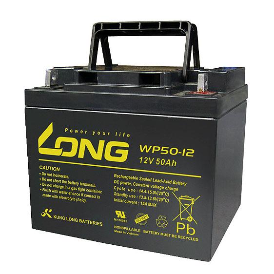 Bình ắc quy kín khí (AGM VRLA) Long 12V-50Ah (WP50-12N; WP50-12NE)