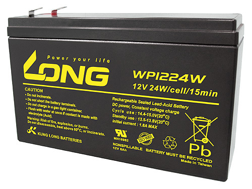 Bình ắc quy kín khí (AGM VRLA) Long 12V-6Ah SLIM (WP1224W)