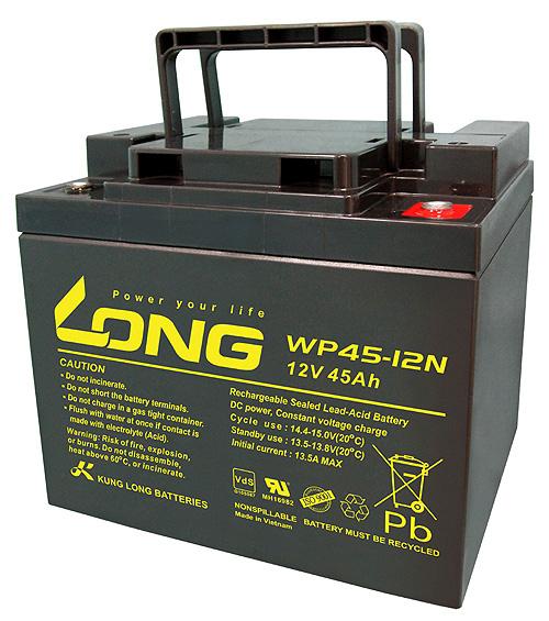 Bình ắc quy kín khí (AGM VRLA) Long 12V-45Ah (WP45-12N)